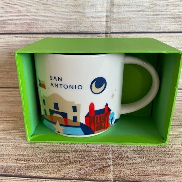 STARBUCKS San Antonio You Are Here Ceramic Mug Cup
